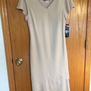 S.L. Fashions Plus Size Dress Beaded Accents